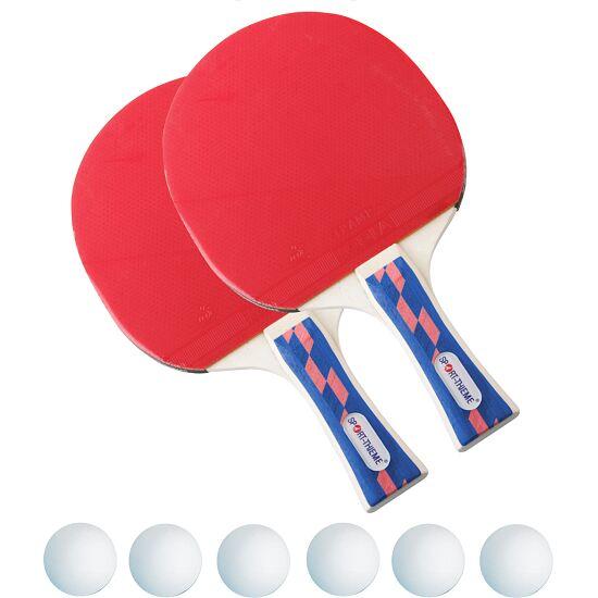 """Sport-Thieme® Tischtennis-Schlägerset """"Champion"""" Bälle Weiß"""