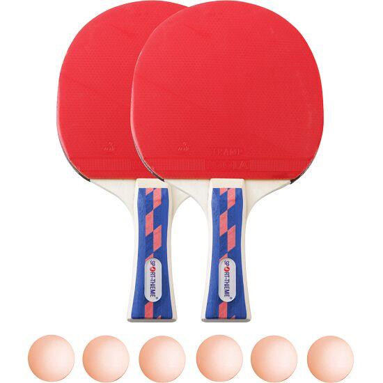"""Sport-Thieme® Tischtennis-Schlägerset """"Champion"""" Bälle Orange"""