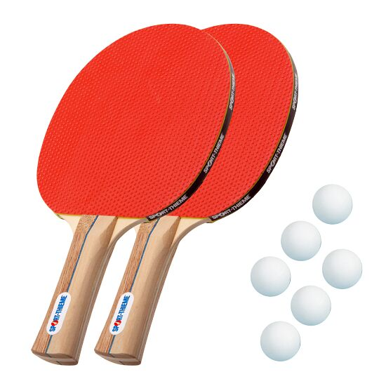 "Sport-Thieme® Tischtennisschläger-Set ""Rom"" Bälle Weiß"