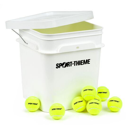 "Sport-Thieme® ""Trainer"" Tennis Balls  Set of 60 including bucket"