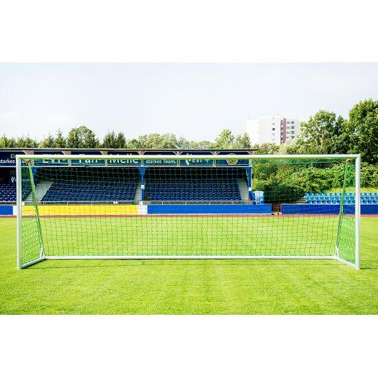 Sport-Thieme Trainings-Großfeldtor 7,32x2,44 m, eckverschweißt, silber, mit integraler Netzaufhängung SimplyFix 1,50 m
