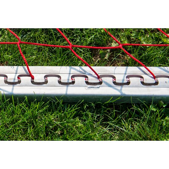 Sport-Thieme Trainings-Großfeldtor 7,32x2,44 m, vollverschweißt, silber, mit integraler Netzaufhängung SimplyFix 1,50 m