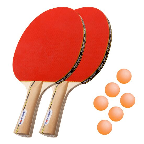 "Sport-Thieme® ""Vienna"" Table Tennis Bat Set Orange balls"