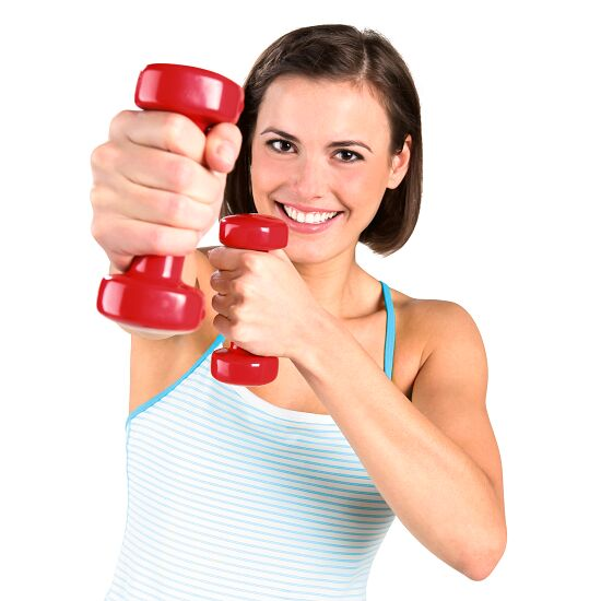 Sport-Thieme® Vinyl Dumbbell  1 kg, red