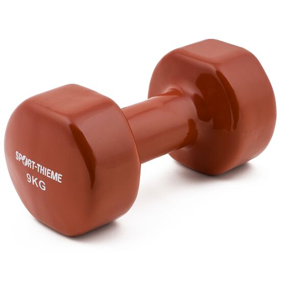 Sport-Thieme Vinyl Dumbbell 9 kg, brown