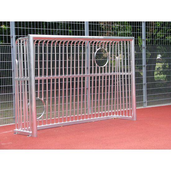 Sport-Thieme® Vollverschweißtes Bolzplatztor mit Ballausschnitt Quadratprofil 80x80 mm, 300x200x60 cm