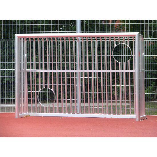 Sport-Thieme® Vollverschweißtes Bolzplatztor mit Ballausschnitten Quadratprofil 80x80 mm, 300x200x60 cm
