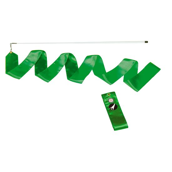 Sport-Thieme® Wettkampf-Gymnastikband 4 m mit Stab Grün