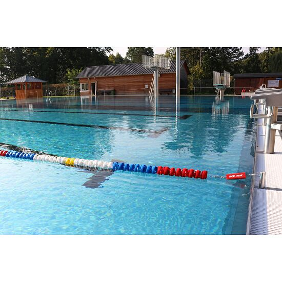 """Sport-Thieme® Wettkampfleine """"Wave Reduction"""" 25 m, Standard, Disk ø 10 cm"""