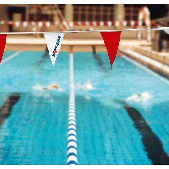 Sport-Thieme® Wimpelketten Rot-Weiß, Wimpel 18x27,5 cm