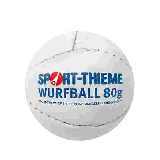 """Sport-Thieme Wurfball """"Leder 80"""" Weiß"""