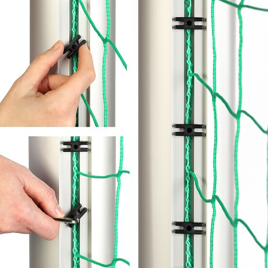 Sport-Thieme® youth football goal 5x2 m, square tubing, socketed Bolted corner joints