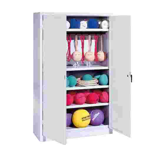 Sports Equipment Locker, HxWxD 195x120x50 cm, with metal double doors (type 2) Light grey (RAL 7035), Light grey (RAL 7035)