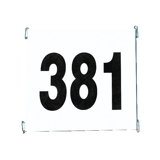 Startnummernsatz aus reißfestem Papier Satz 1-100