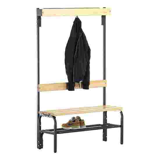 Sypro Wolf Omklædningsbænk til tørre rum med ryglæn 1,01 m, Med skotøjshylde