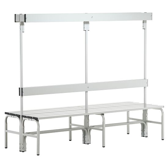 Sypro Wolf® Wet Area Changing Benches with Double Backrest 1.50 m, Without shoe shelf