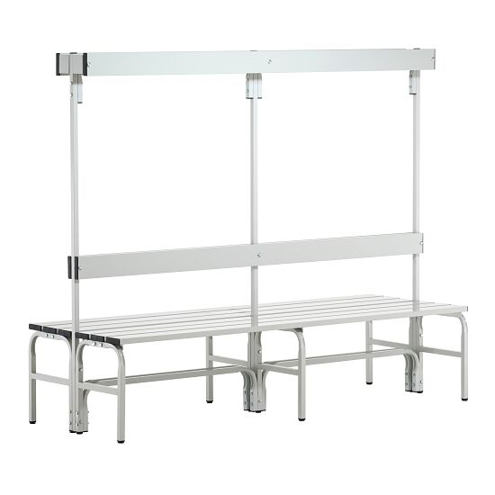 Sypro Wolf® Wet Area Changing Benches with Double Backrest 2.00 m, Without shoe shelf