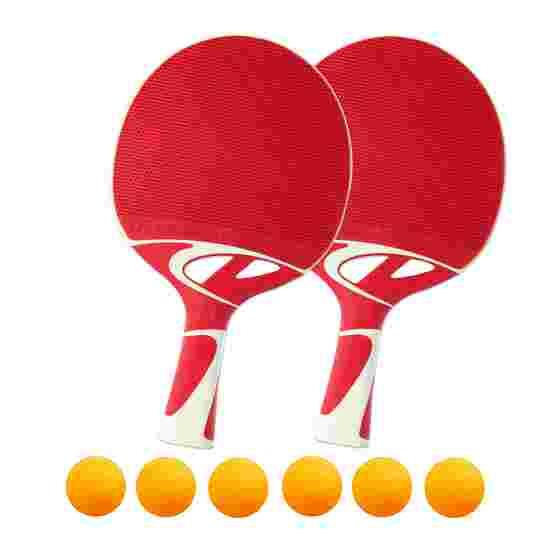 """Tacteo 50"" Table Tennis Bat Set Orange balls"