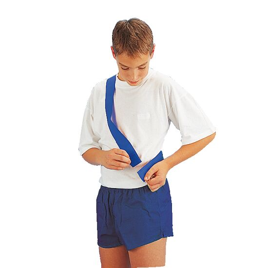 Team Sash witch touch fastener Children, length: approx. 50 (100) cm, Blue