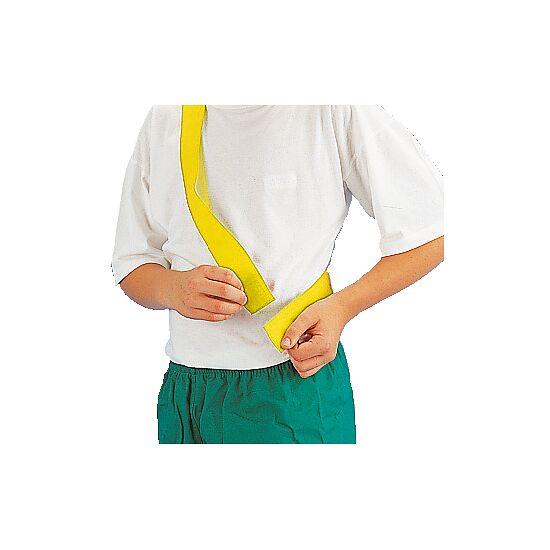 Teamband mit Klettverschluss Kinder, L: ca. 50 (100) cm, Gelb