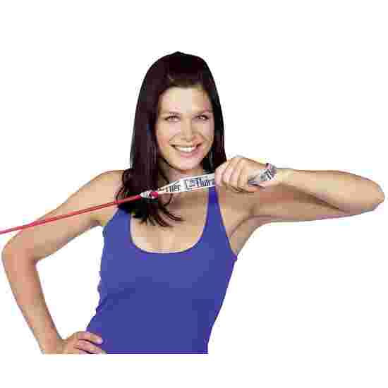 TheraBand Bodytrainer Resistance Tube, 1.4 m with Handles Red, medium