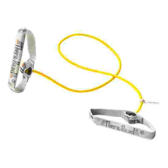TheraBand Bodytrainer Resistance Tube, 1.4 m with Handles Yellow, low