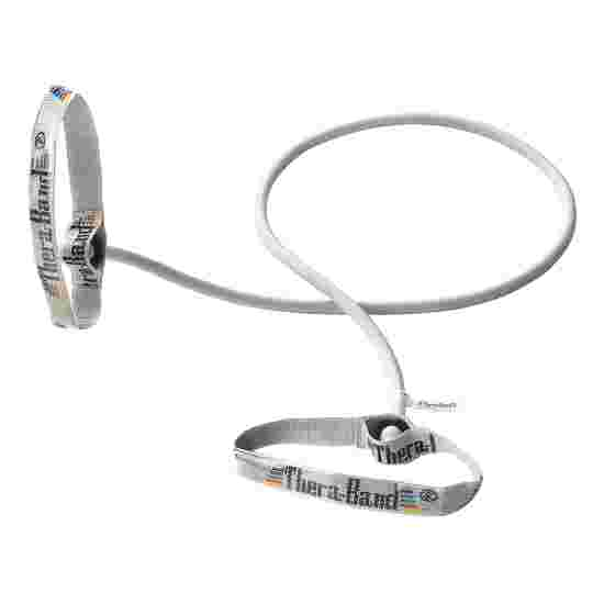 TheraBand Bodytrainer Resistance Tube, 1.4 m with Handles Silver, ultra-high