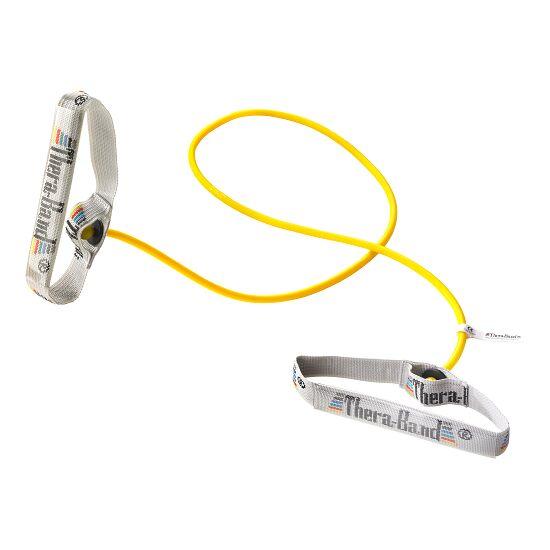 TheraBand Bodytrainer Tubing 1,4 m. med håndtag Gul, let