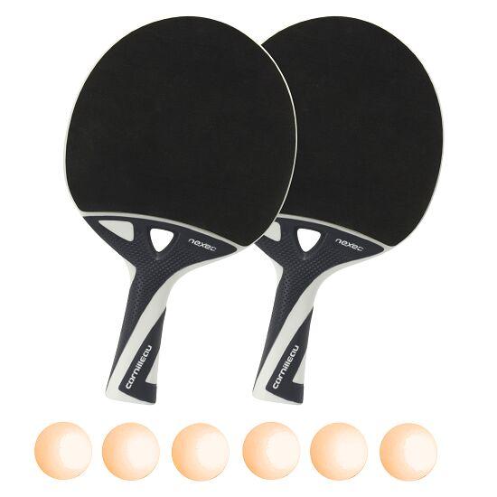 """Tischtennisschläger-Set """"nexeo X70"""" Bälle Orange"""