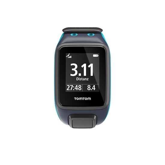 """TomTom Sportuhr Runner 2 """"Cardio+Music+Bluetooth Kopfhörer"""" Dunkelblau/Türkis, L"""