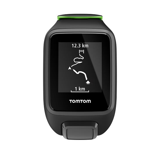 "TomTom Sportuhr Runner 3 ""Music + Bluetooth Kopfhörer"" Gr. S, Schwarz/Grün"