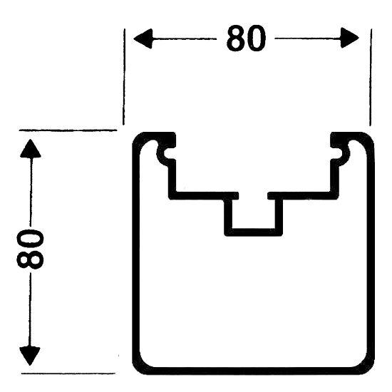 Transportrollen für freistehende Tore Quadratprofil 80/80 mm, Profilnut tief