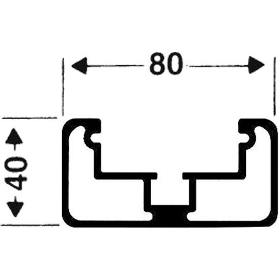 Transportrollen für freistehende Tore Rechteckprofil 80x40 mm, Profilnut tief