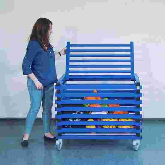 """Transportwagen  mit und ohne Deckel """"Kunststoff"""" Mit Deckel, Blau"""
