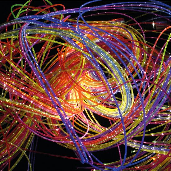 UV aktive Faseroptik 100 Stränge, 1 m