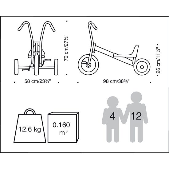 """Winther® Viking """"Maxi"""" Tricycle"""