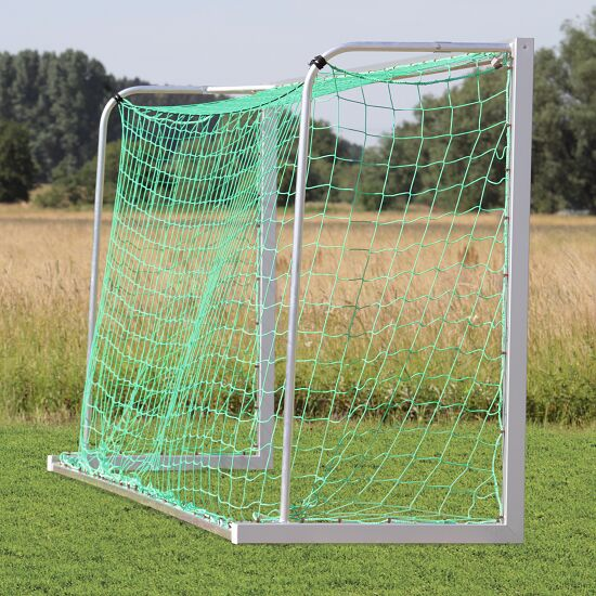 Youth football goal 5x2 m, square tubing, portable with ground frame