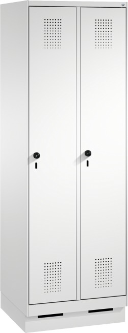 """Garderobenschrank """"S3000 Evolo"""" mit Sockel 1800x600x500 mm/2 Abteile, 300 mm"""
