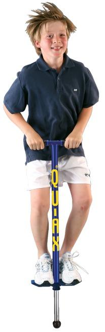 Qu-Ax® Pogo-Stick  Blau, L: 99 cm, bis 50 kg