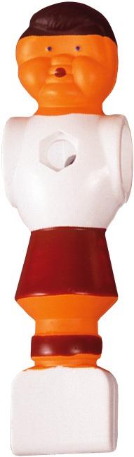 Fußball-Kickerfigur Weiß-Rot