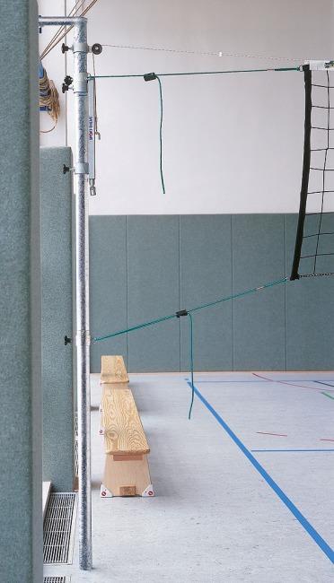 Sport-Thieme® Volleyballpfosten zum Einhängen Mit Spannvorrichtung