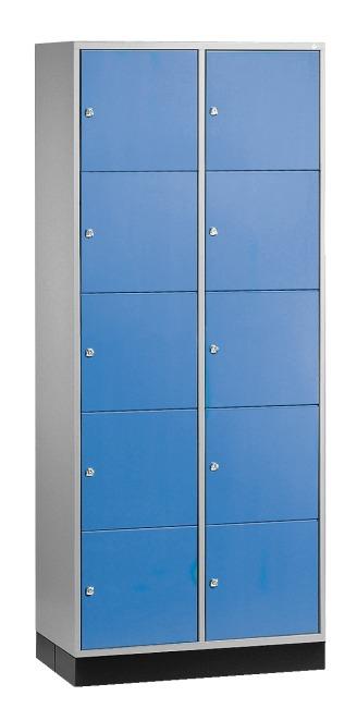 """Großraum-Schließfachschrank """"S 4000 Intro"""" (5 Fächer übereinander) 195x85x49 cm/ 10 Fächer, Enzianblau (RAL 5010)"""