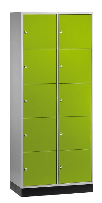 """Großraum-Schließfachschrank """"S 4000 Intro"""" (5 Fächer übereinander) 195x85x49 cm/ 10 Fächer, Viridingrün (RDS 110 80 60)"""