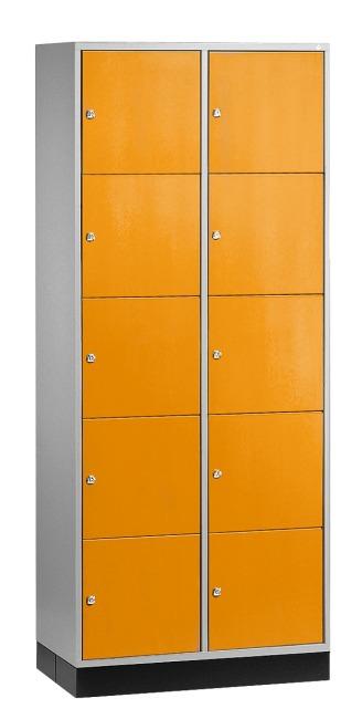 """Großraum-Schließfachschrank """"S 4000 Intro"""" (5 Fächer übereinander) 195x85x49 cm/ 10 Fächer, Gelborange (RAL 2000)"""
