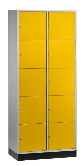 """Großraum-Schließfachschrank """"S 4000 Intro"""" (5 Fächer übereinander) 195x85x49 cm/ 10 Fächer, Sonnengelb (RDS 080 80 60)"""