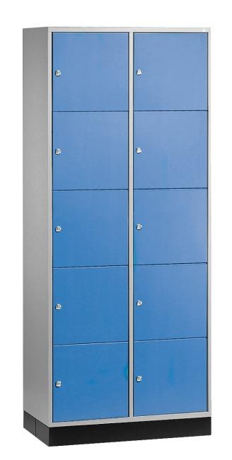"""Schließfachschrank """"S 4000 Intro"""" (5 Fächer übereinander) 195x62x49cm/ 10 Fächer, Enzianblau (RAL 5010)"""