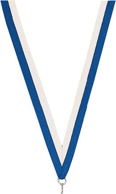 Medaillen-Band Blau-Weiß