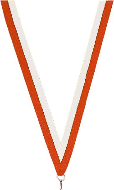 Medaillen-Band Rot-Weiß
