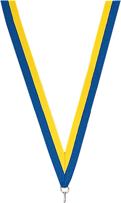 Medaillen-Band Blau-Gelb