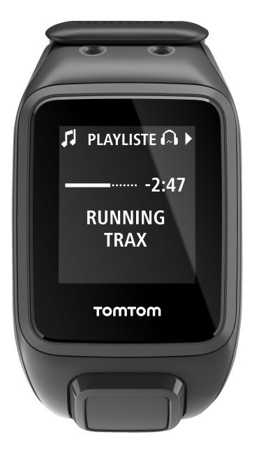 "TomTom Sportuhr Runner 2 ""Music"" Schwarz/Anthrazit, L"